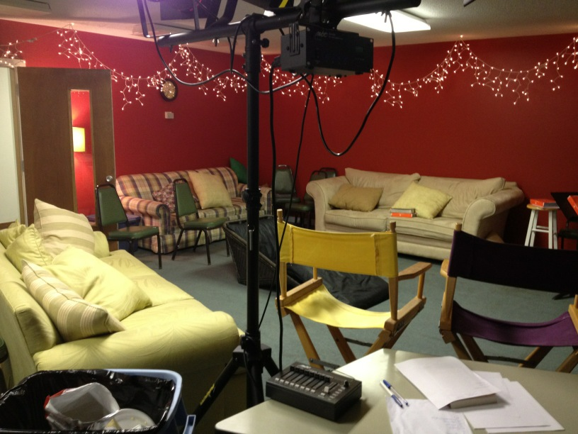 Our Sacred Space AKA Youth Gathering Room oh the difference a year