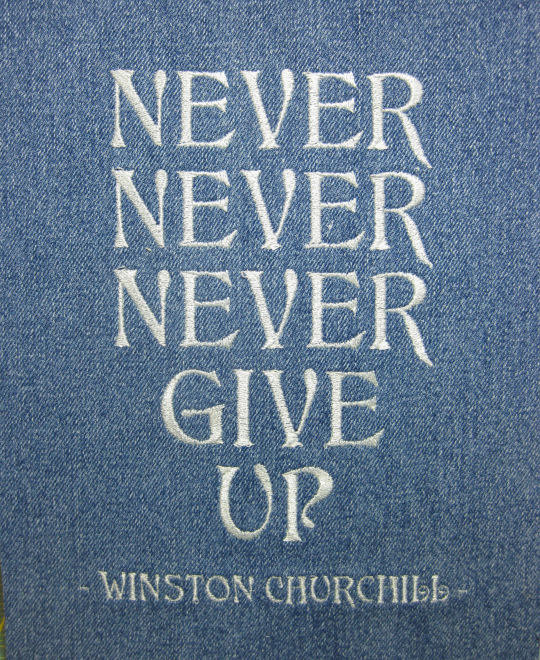 never give up churchill