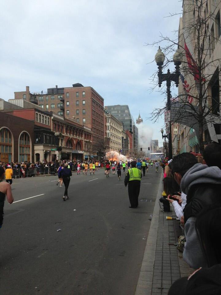 Explosion at the Boston marathon captured