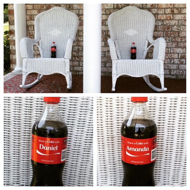 Cokes on the chairs
